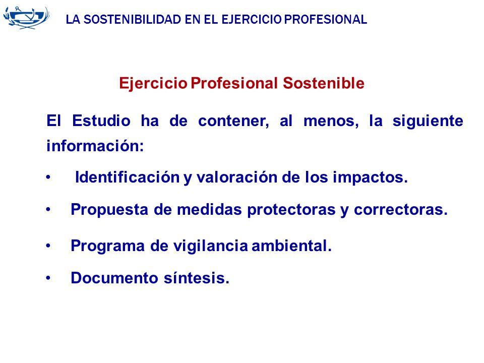 LA SOSTENIBILIDAD EN EL EJERCICIO PROFESIONAL ACUERDO DE LA INGENIERÍA 29/06/2007 Ejercicio Profesional Sostenible Identificación y valoración de los