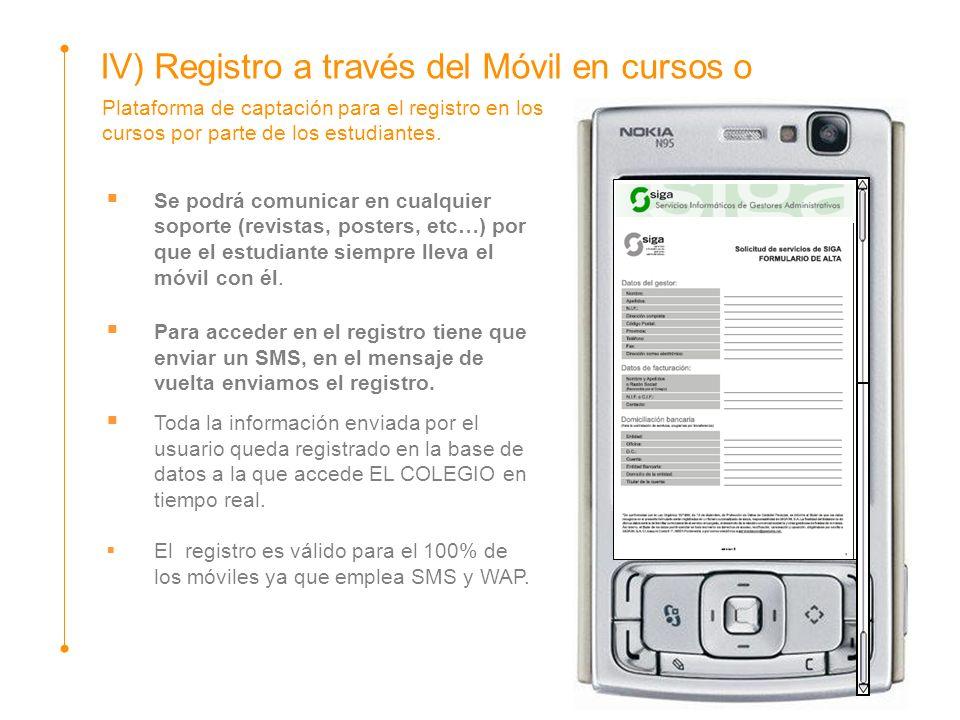 Plataforma de captación para el registro en los cursos por parte de los estudiantes. Se podrá comunicar en cualquier soporte (revistas, posters, etc…)