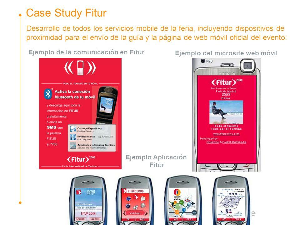 Desarrollo de todos los servicios mobile de la feria, incluyendo dispositivos de proximidad para el envío de la guía y la página de web móvil oficial