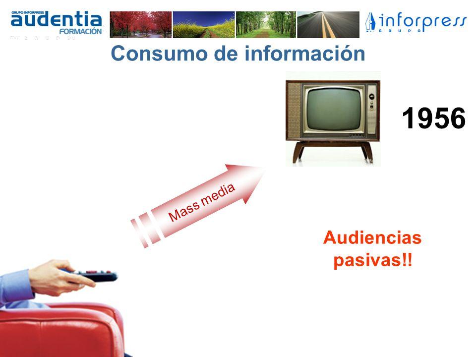 Consumo de información Mass media Audiencias pasivas!! 1956