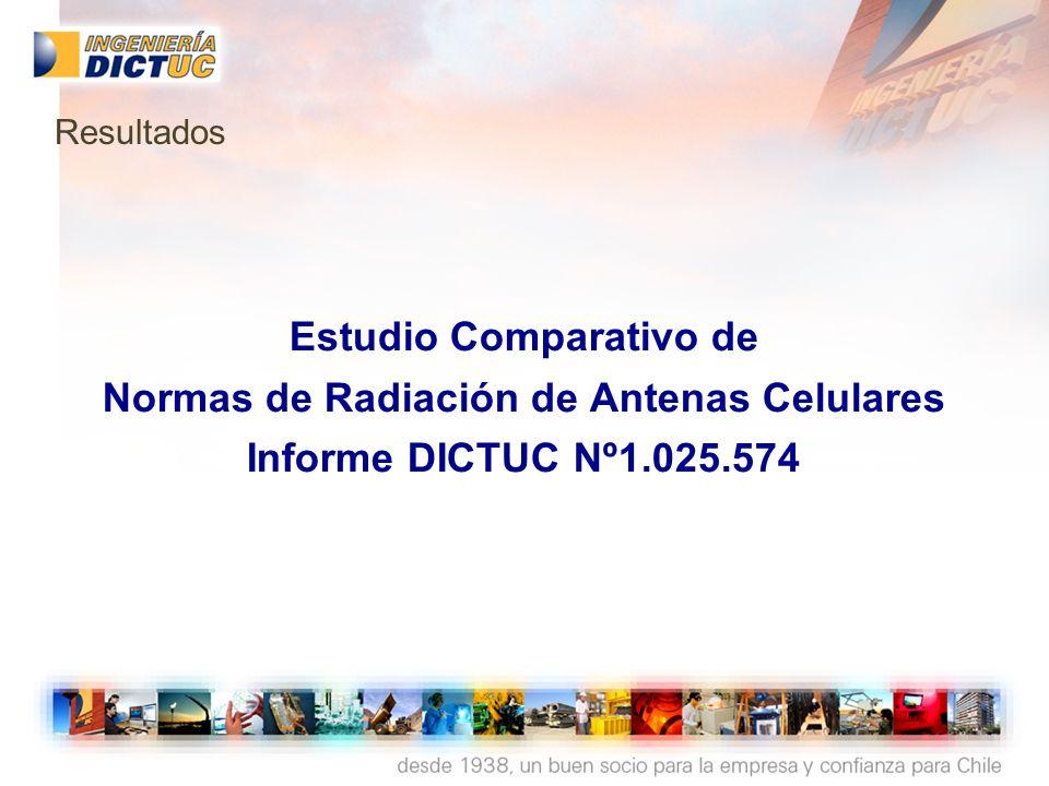Estudio Comparativo de Normas de Radiación de Antenas Celulares Informe DICTUC Nº1.025.574 Resultados