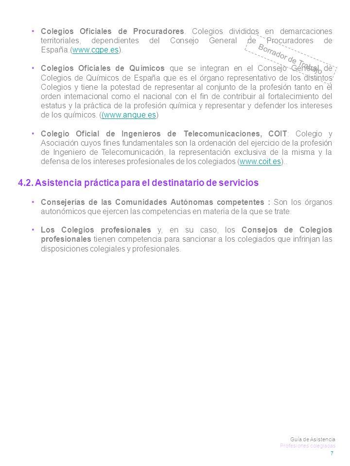 7 Colegios Oficiales de Procuradores.