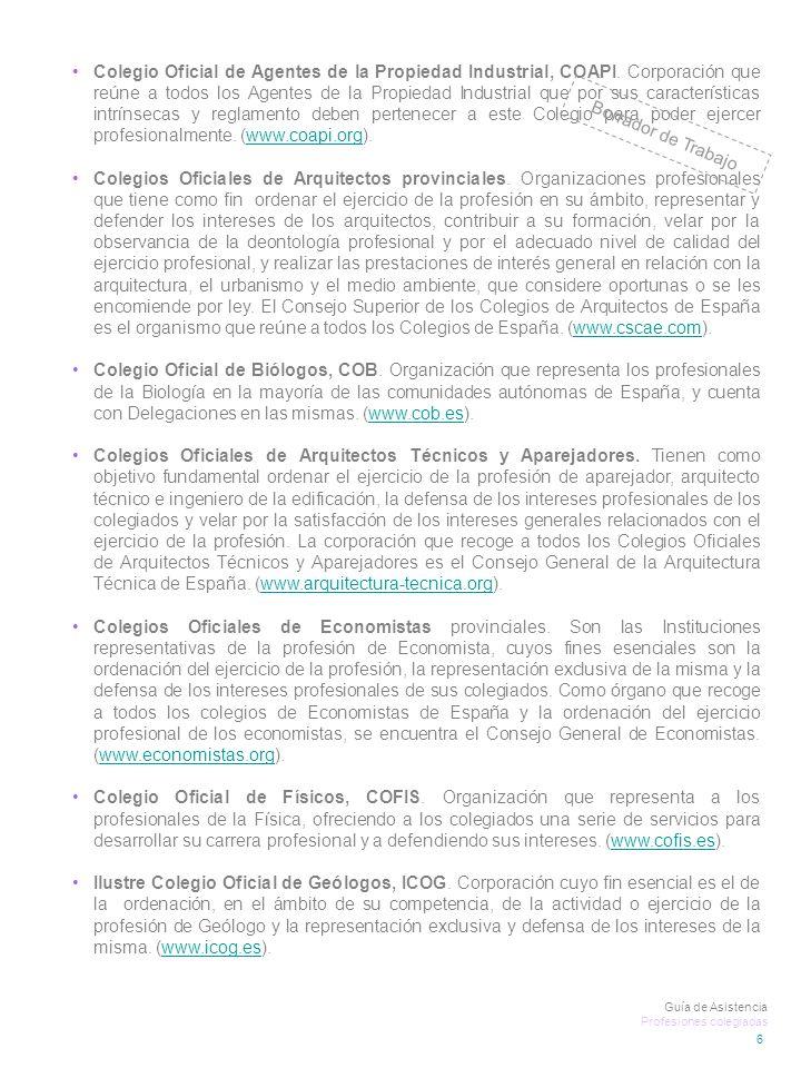 Colegio Oficial de Agentes de la Propiedad Industrial, COAPI.