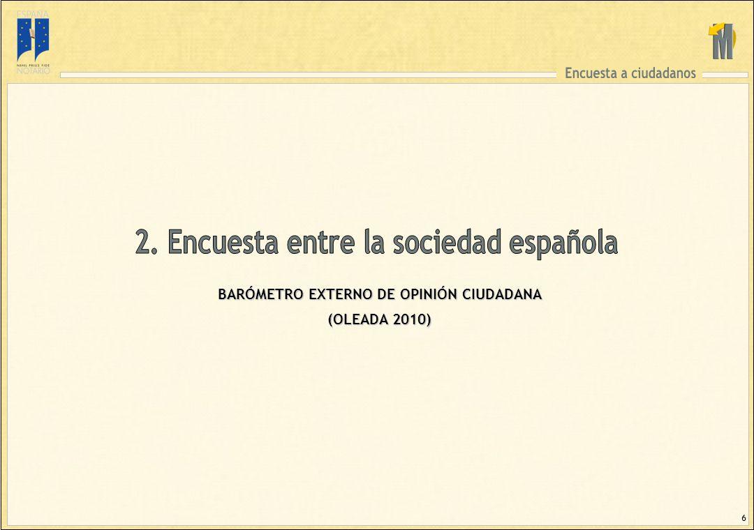 6 BARÓMETRO EXTERNO DE OPINIÓN CIUDADANA (OLEADA 2010)