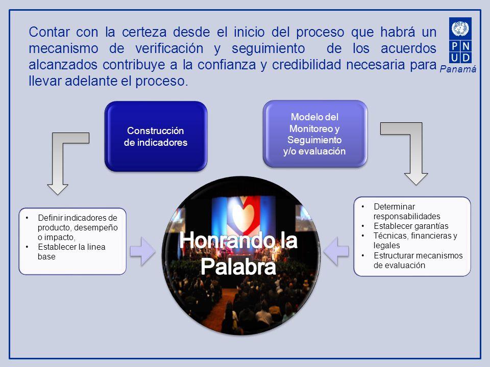 Panamá Contar con la certeza desde el inicio del proceso que habrá un mecanismo de verificación y seguimiento de los acuerdos alcanzados contribuye a