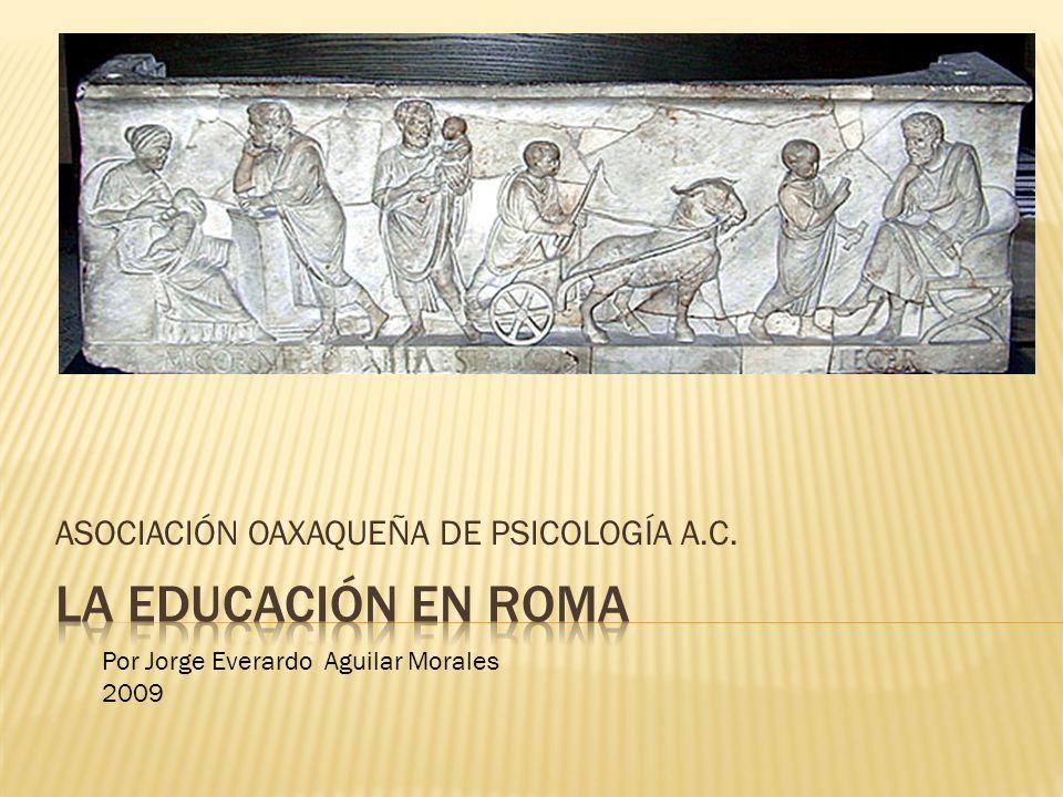ASOCIACIÓN OAXAQUEÑA DE PSICOLOGÍA A.C. Por Jorge Everardo Aguilar Morales 2009