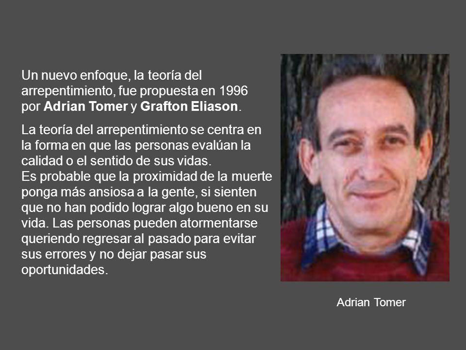 Adrian Tomer Un nuevo enfoque, la teoría del arrepentimiento, fue propuesta en 1996 por Adrian Tomer y Grafton Eliason. La teoría del arrepentimiento