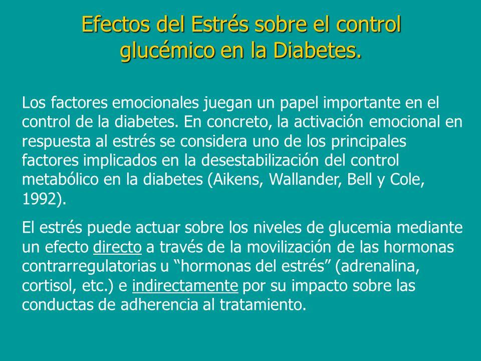 Efectos del Estrés sobre el control glucémico en la Diabetes. Los factores emocionales juegan un papel importante en el control de la diabetes. En con