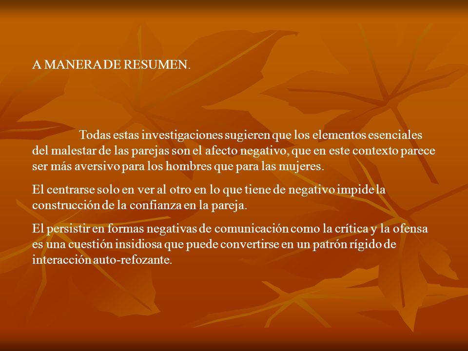 A MANERA DE RESUMEN.