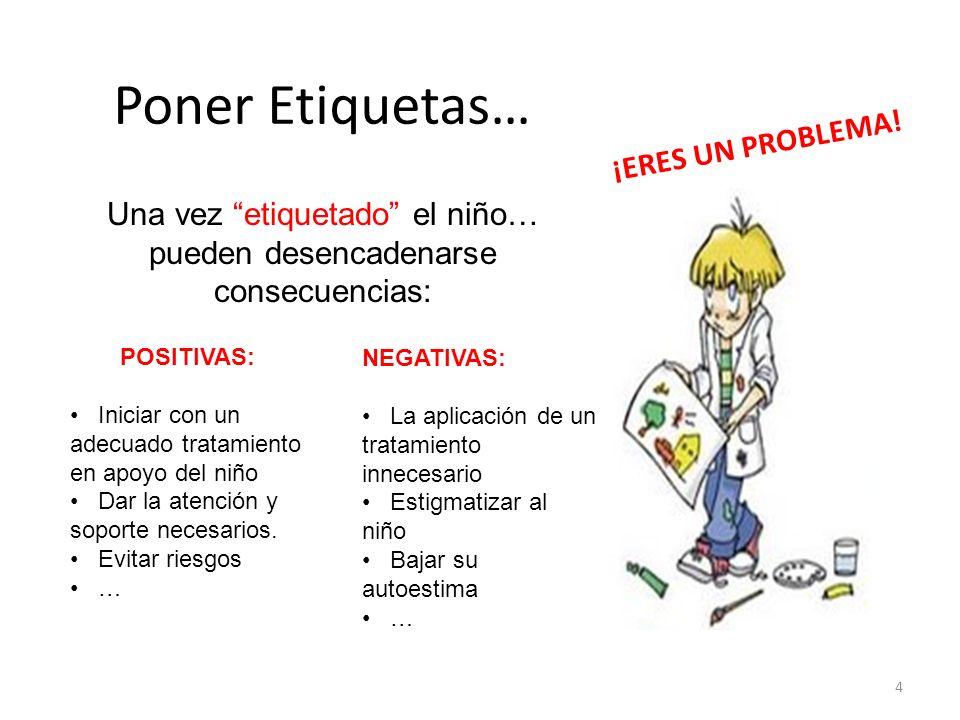 POSITIVAS: Iniciar con un adecuado tratamiento en apoyo del niño Dar la atención y soporte necesarios. Evitar riesgos … NEGATIVAS: La aplicación de un