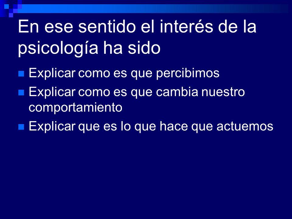 La psicología clínica es a su vez un área de la psicología aplicada.