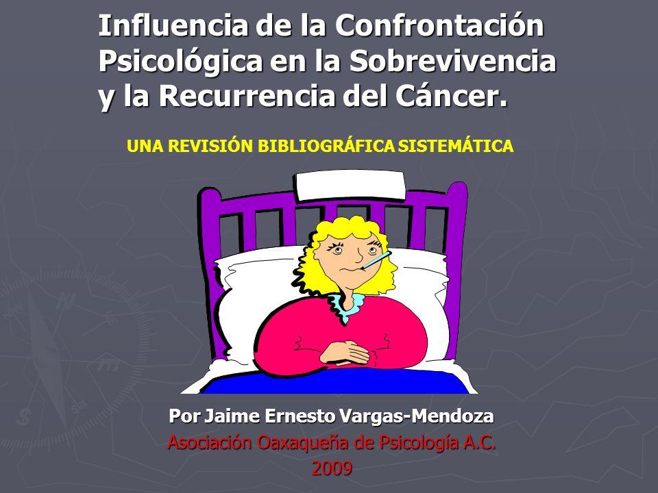 Confrontación Activa centrada en el Problema.- Ocho estudios examinaron los efectos de la confrontación activa centrada en el problema sobre la sobrevivencia ante el cáncer.