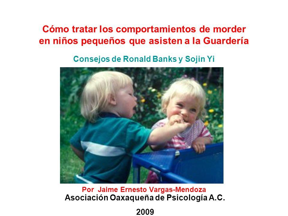Cómo tratar los comportamientos de morder en niños pequeños que asisten a la Guardería Consejos de Ronald Banks y Sojin Yi Por Jaime Ernesto Vargas-Me