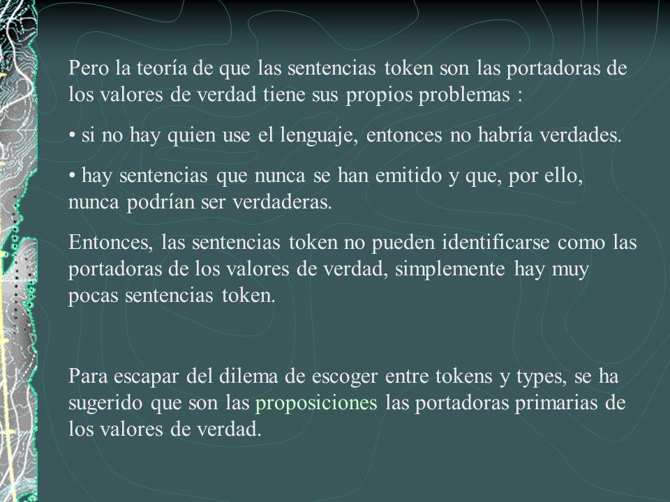 Las siguientes tres sentencias están en diferentes lenguajes, pero se utilizan para expresar la misma proposición.