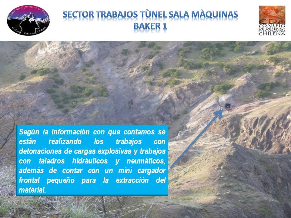 Según la información con que contamos se están realizando los trabajos con detonaciones de cargas explosivas y trabajos con taladros hidráulicos y neu