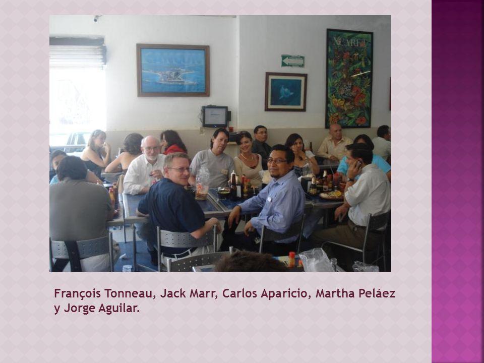 François Tonneau, Jack Marr, Carlos Aparicio, Martha Peláez y Jorge Aguilar.