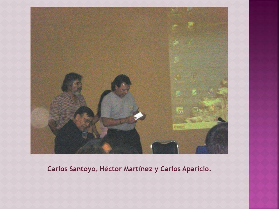 Carlos Santoyo, Héctor Martínez y Carlos Aparicio.