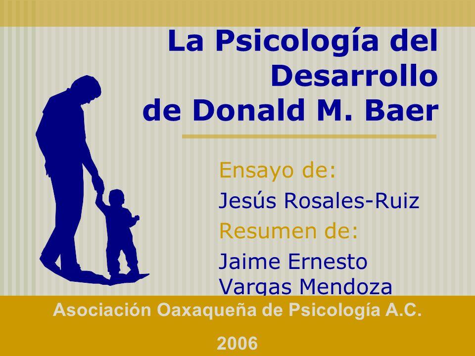 Entre las contribuciones de Donal M.