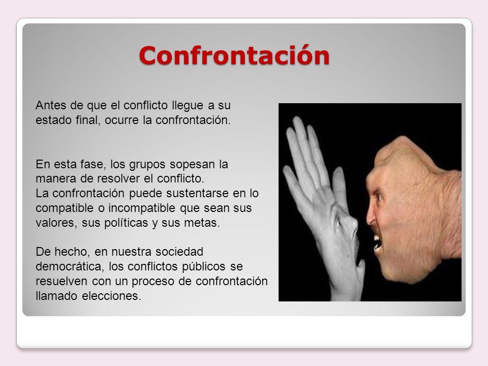 La confrontación puede darse de diferentes formas.
