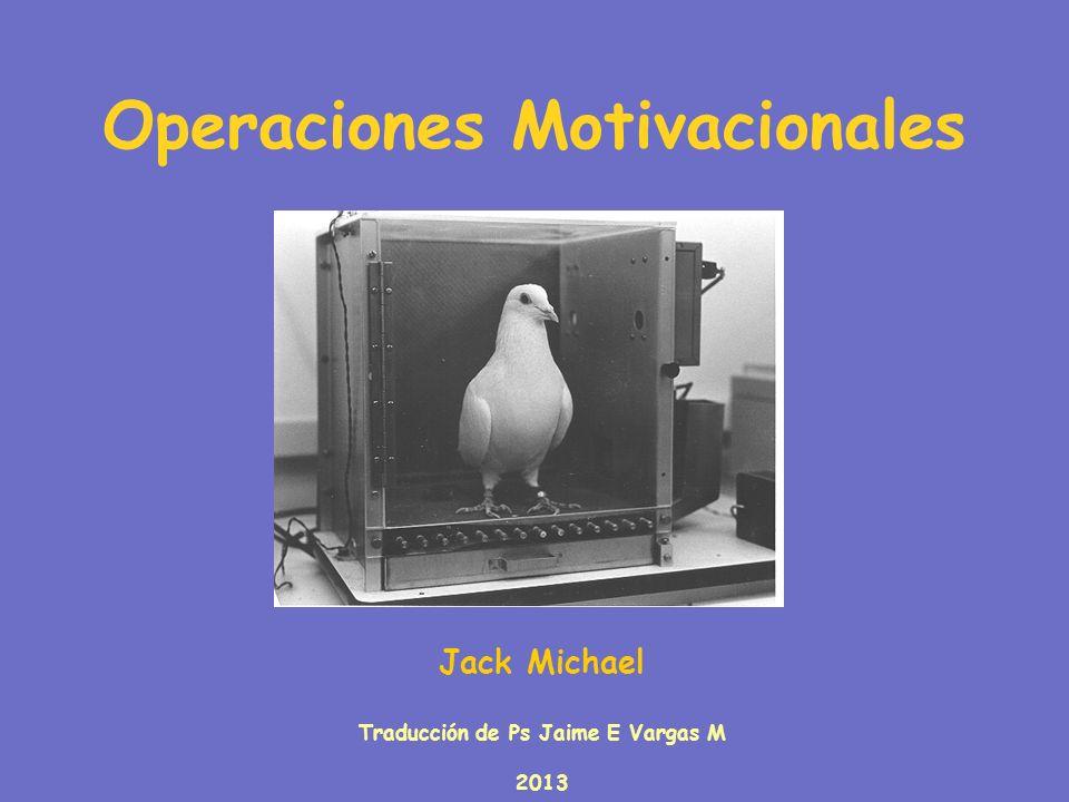 Operaciones Motivacionales Jack Michael Traducción de Ps Jaime E Vargas M 2013