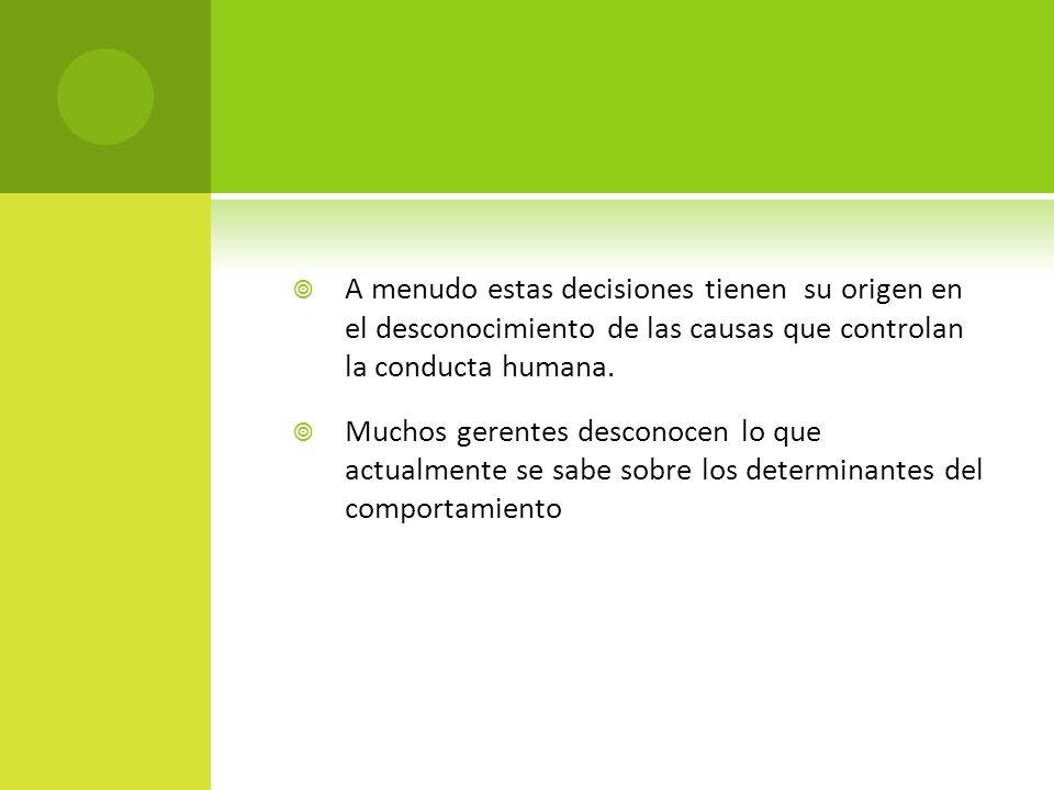 Dos tipos de consecuencias el castigo (presentar un estímulo negativo) y la penalización (eliminar un estímulo positivo) eliminan la conducta.
