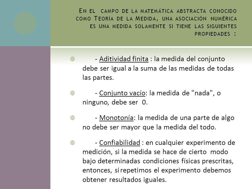 La medición puede ser considerada simplemente como un método refinado de comunicación objetiva.