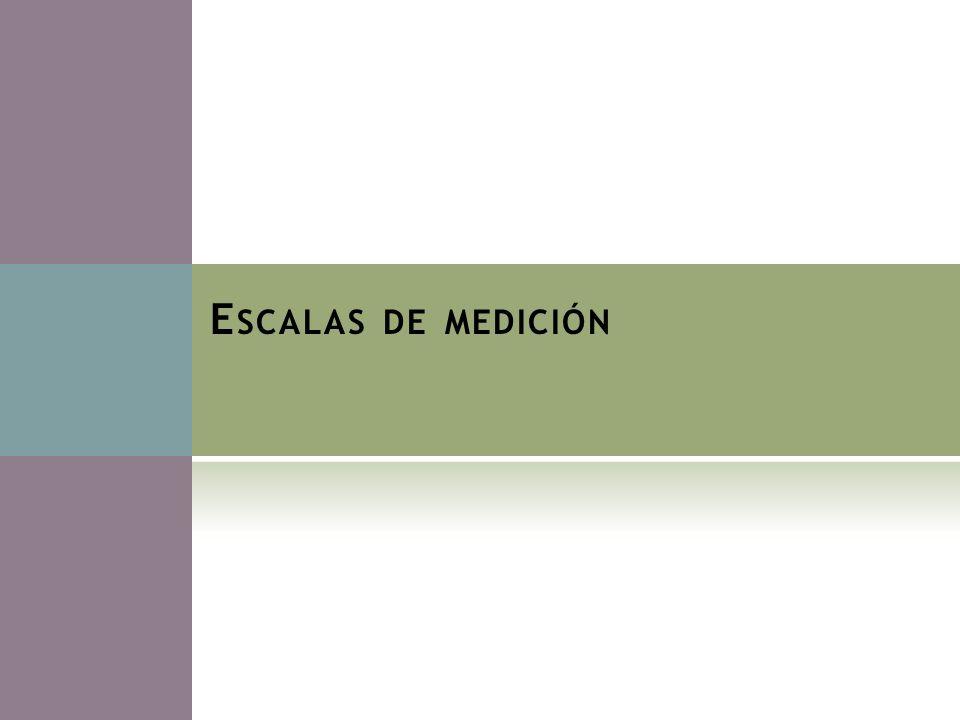 E SCALAS DE MEDICIÓN