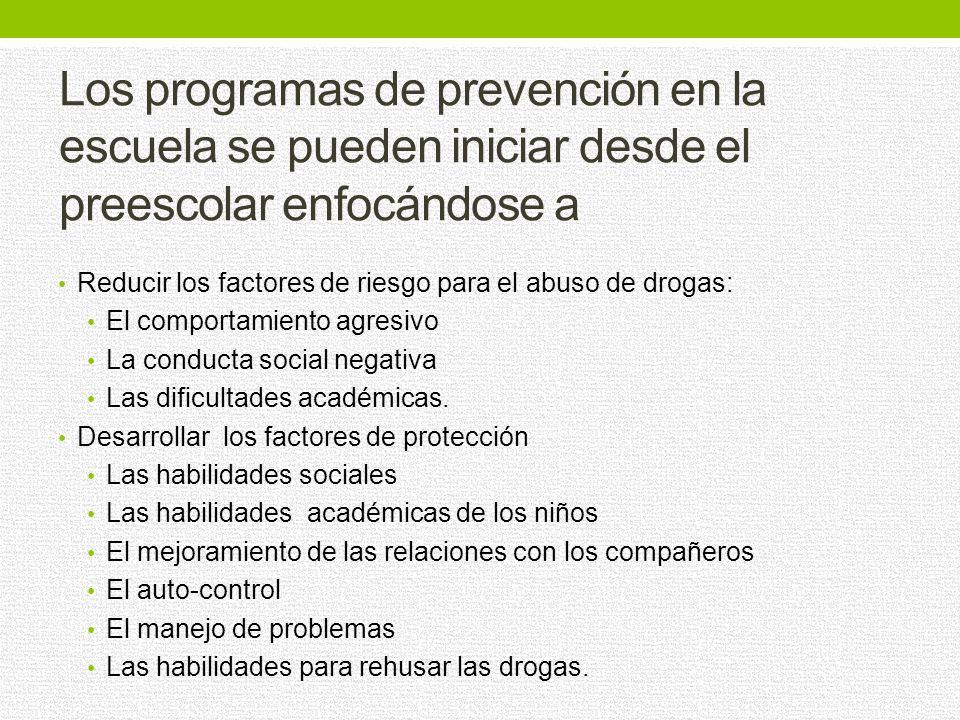 Los programas de prevención destinados a la familia deben desarrollar habilidades para Educar a sus hijos de manera positiva Comunicarse mejor con la
