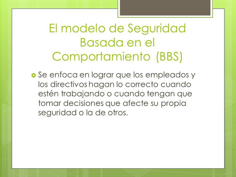 El modelo de Seguridad Basada en el Comportamiento (BBS) Se enfoca en lograr que los empleados y los directivos hagan lo correcto cuando estén trabaja
