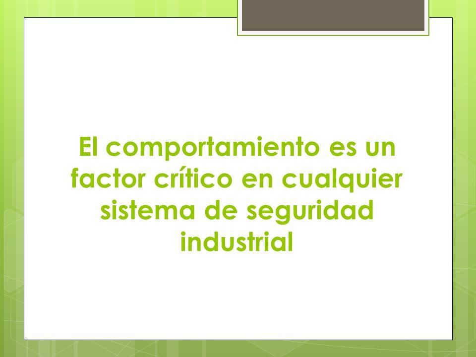 El comportamiento es un factor crítico en cualquier sistema de seguridad industrial