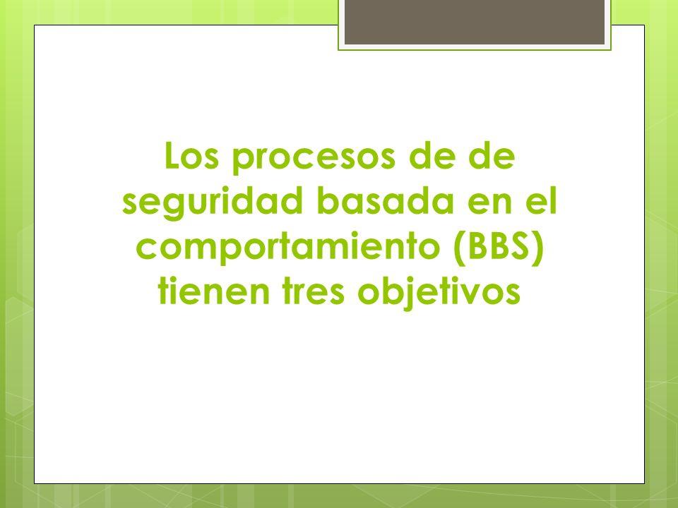 Los procesos de de seguridad basada en el comportamiento (BBS) tienen tres objetivos