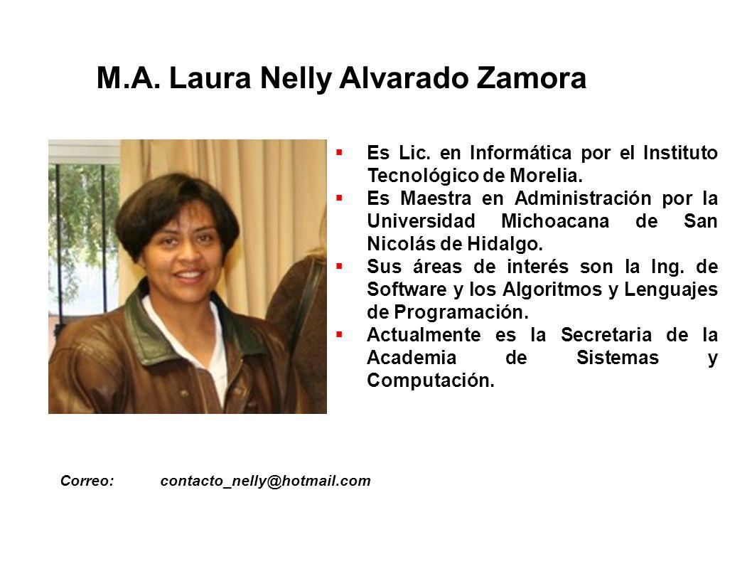 M.A.Laura Nelly Alvarado Zamora Correo:contacto_nelly@hotmail.com Es Lic.