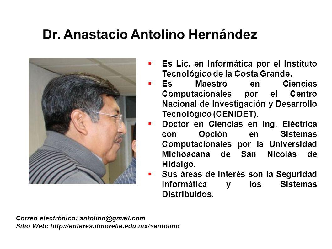 M.C.José Alfredo Jiménez Murillo Correo electronico: aline@itmorelia.edu.mx E s Ing.