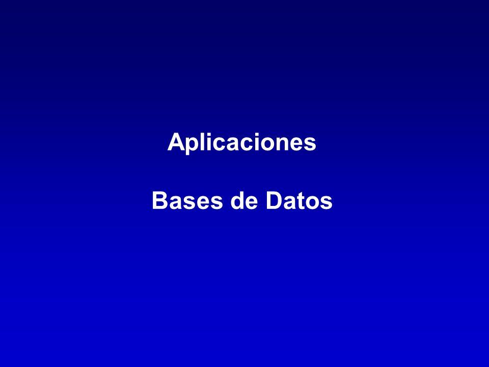 Aplicaciones Bases de Datos