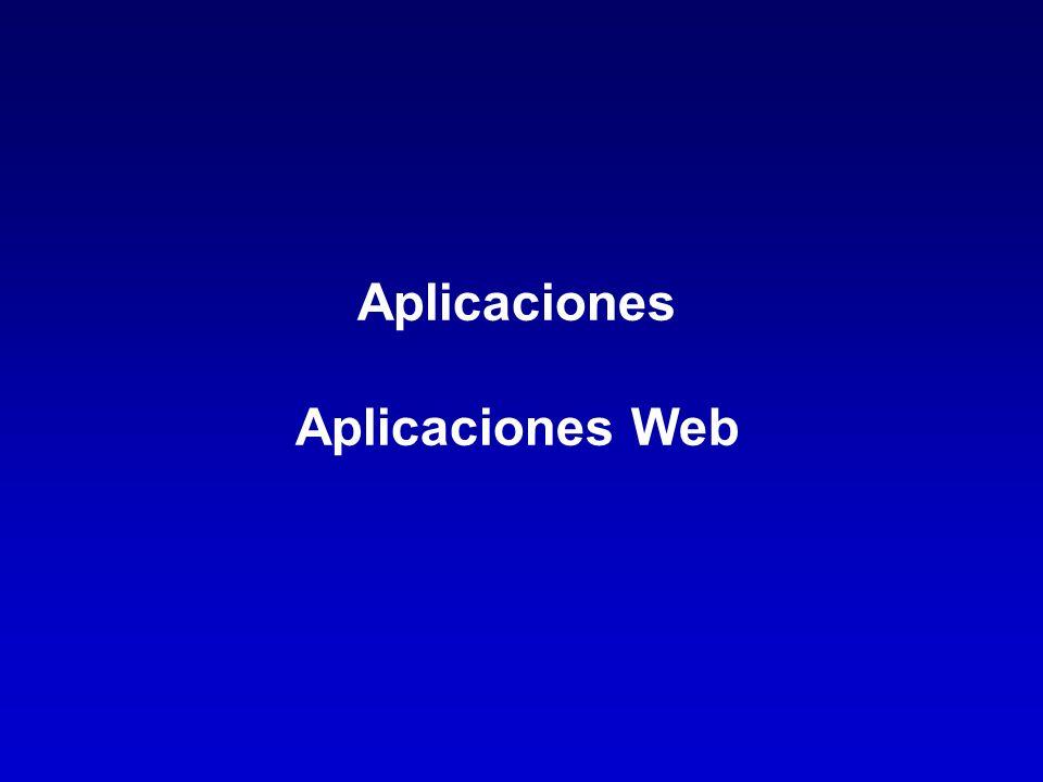 Aplicaciones Aplicaciones Web