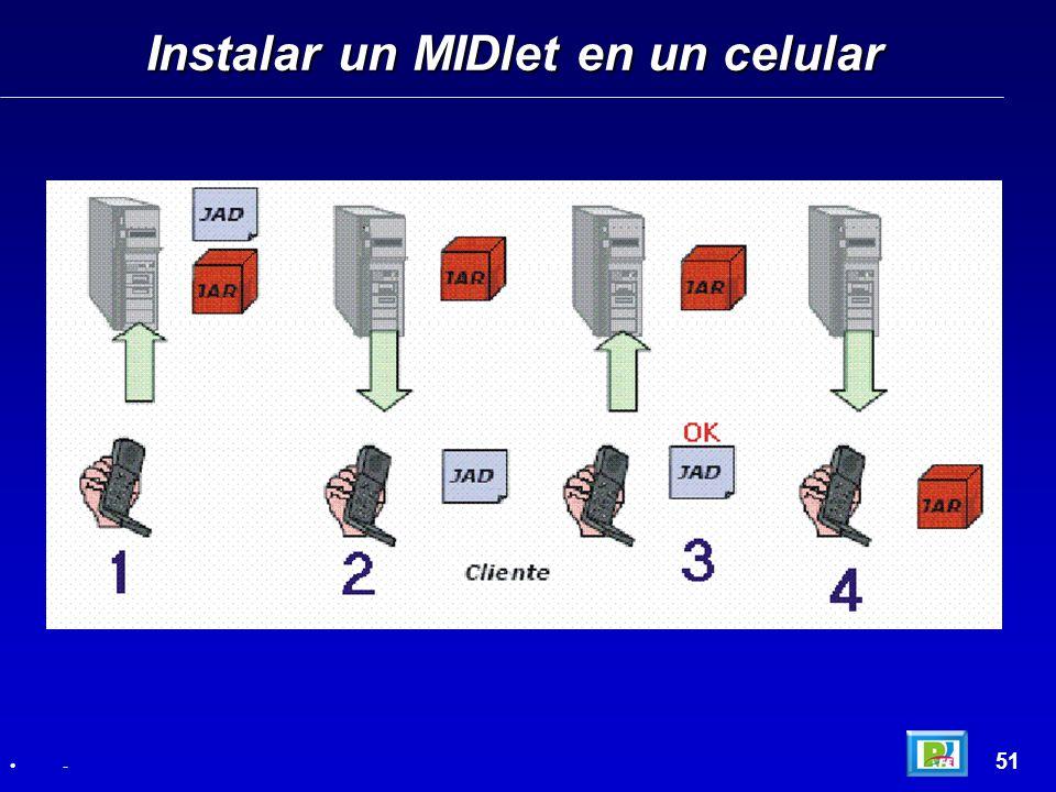Instalar un MIDlet en un celular 51 -