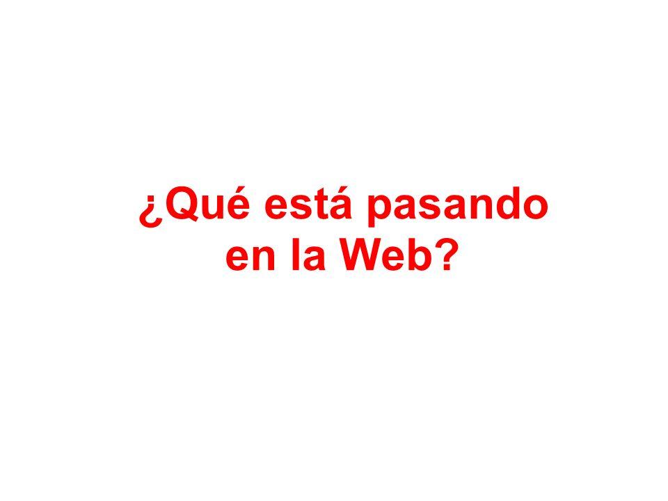 ¿Qué está pasando en la Web