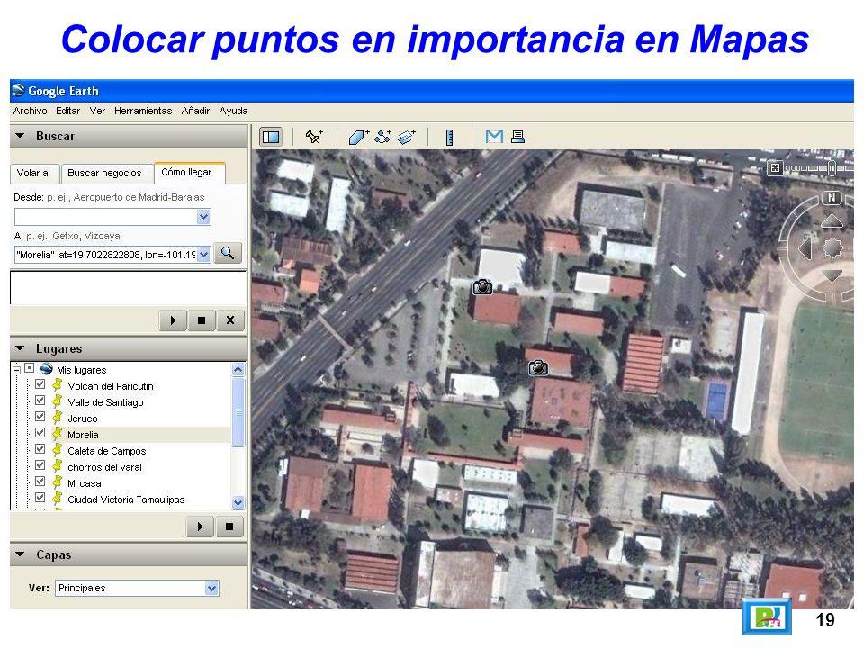 19 Colocar puntos en importancia en Mapas