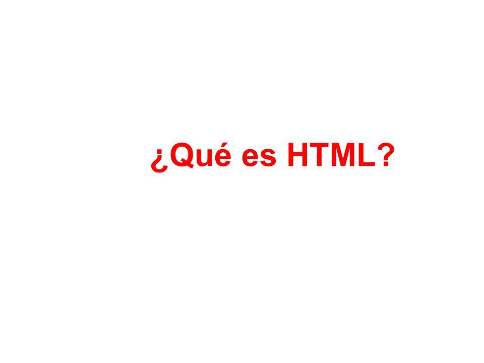 ¿Qué es HTML