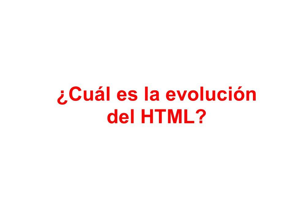 ¿Cuál es la evolución del HTML?