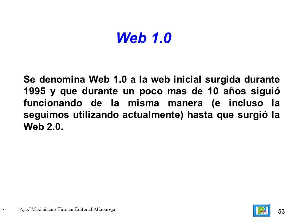 54 Web 1.0 logos http://www.flickr.com/photos/complexify/97303317/.http://www.flickr.com/photos/complexify/97303317/ Web 1.0