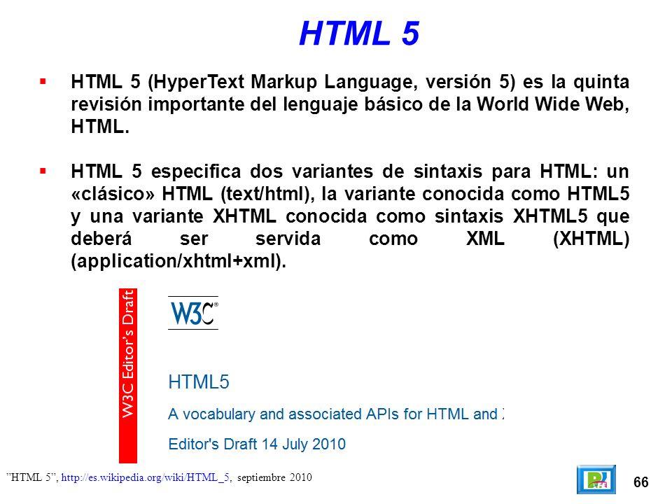 ¿Y ahora por qué HTML 5?