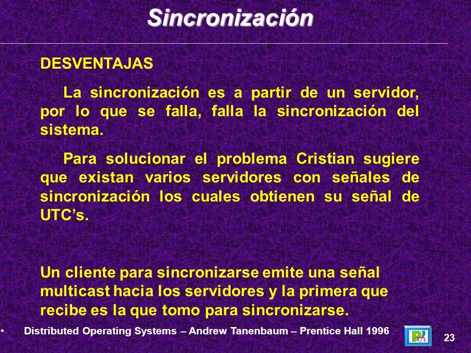 DESVENTAJAS La sincronización es a partir de un servidor, por lo que se falla, falla la sincronización del sistema. Para solucionar el problema Cristi