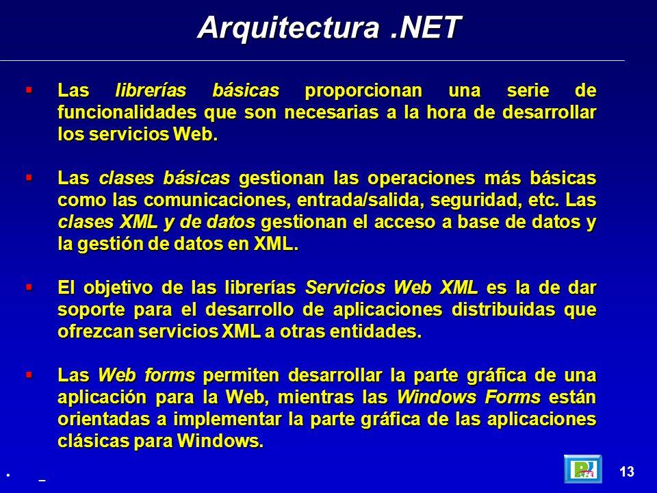 Las librerías básicas proporcionan una serie de funcionalidades que son necesarias a la hora de desarrollar los servicios Web. Las librerías básicas p