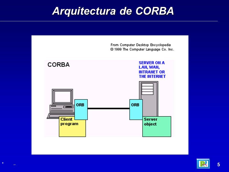 Arquitectura de CORBA 5 _