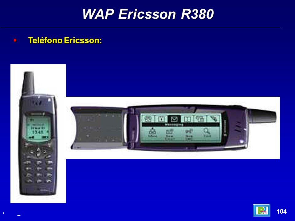 Teléfono Ericsson: Teléfono Ericsson: WAP Ericsson R380 104 _