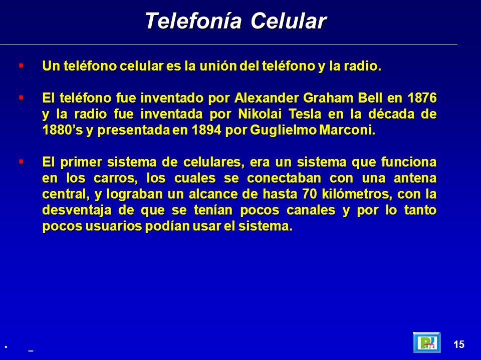 Un teléfono celular es la unión del teléfono y la radio. Un teléfono celular es la unión del teléfono y la radio. El teléfono fue inventado por Alexan