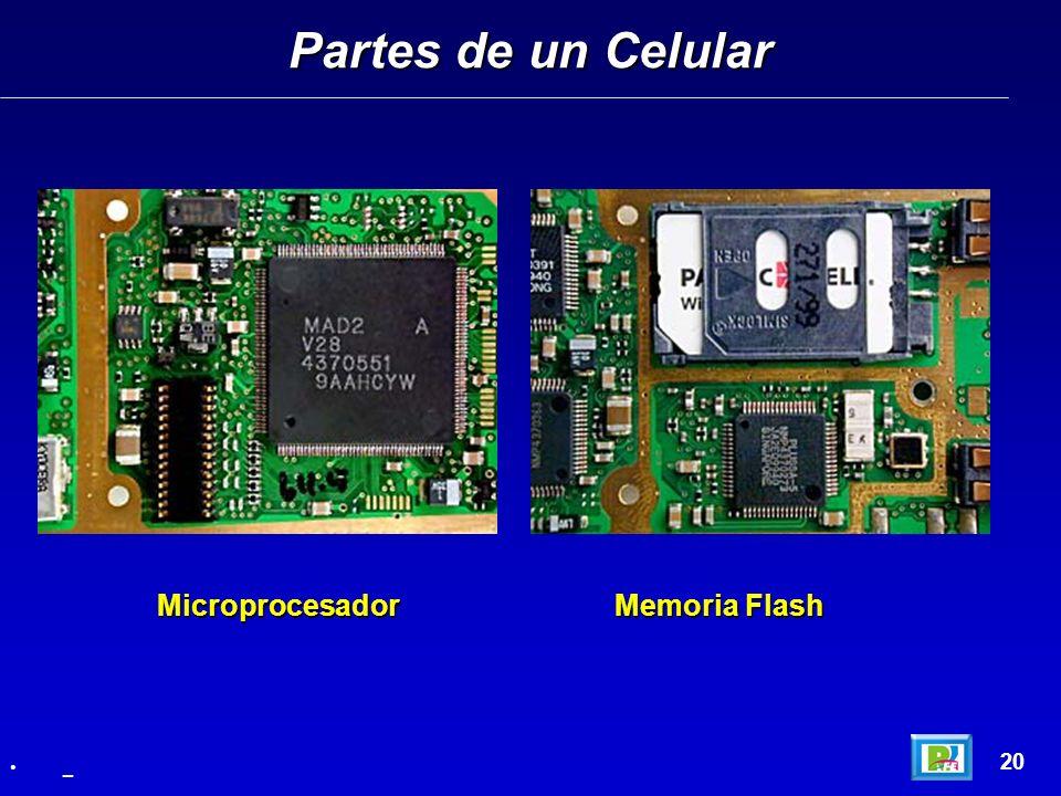 Partes de un Celular 20 _ Microprocesador Memoria Flash