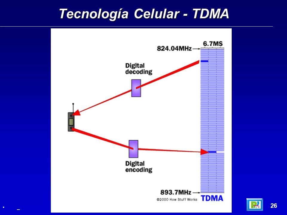 Tecnología Celular - TDMA 26 _
