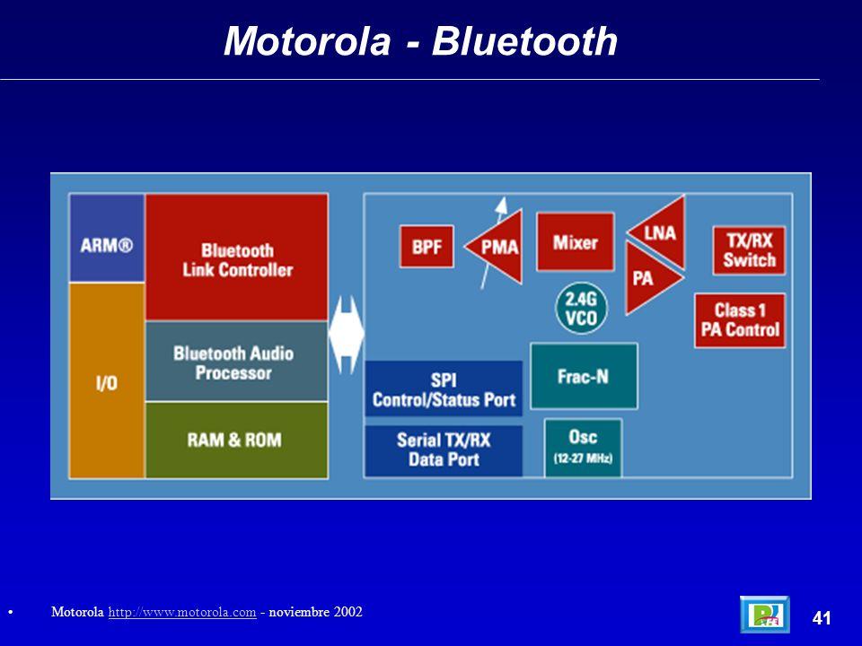 Motorola - Bluetooth 41 Motorola http://www.motorola.com - noviembre 2002http://www.motorola.com